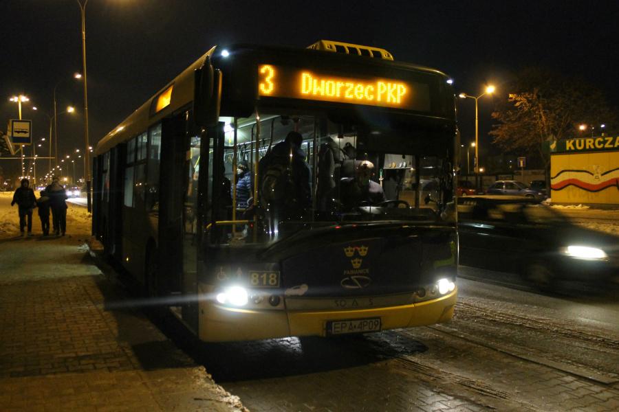 Autobusy w Wigilię i Sylwestra