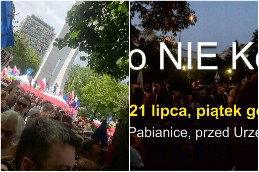 """Protest w Pabianicach. """"Z demokracji Polska stanie się dyktaturą"""""""