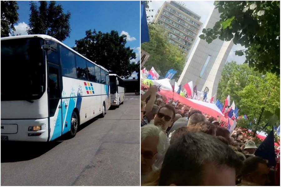 Nasi samorządowcy protestują przed Sejmem
