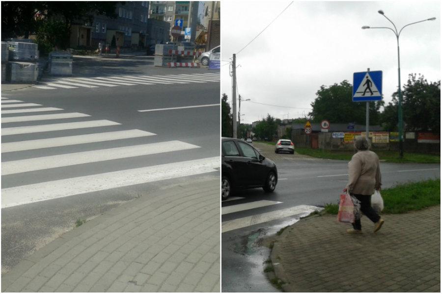 Półlegalne przejścia dla pieszych. Brakuje znaków
