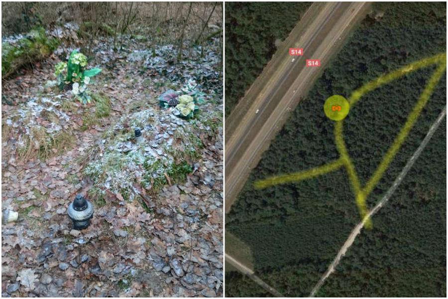 Co to za groby na skraju S14?