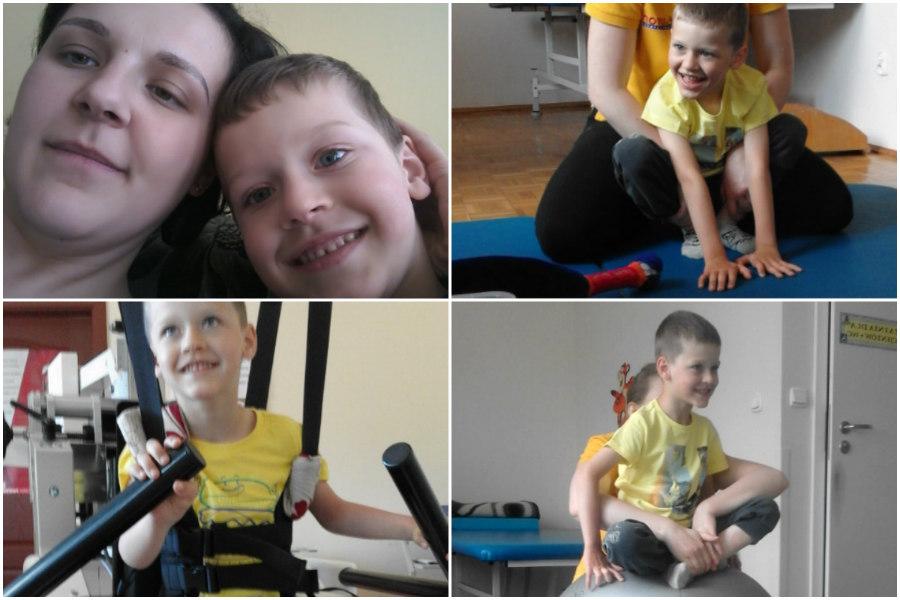 Pomagamy Dawidkowi, by mógł samodzielnie chodzić