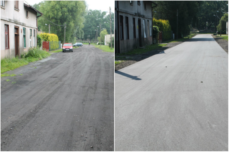 Jest asfalt na Wierzbowej i Żabiej. Nareszcie!