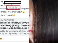 Urzędnik ukarany za wpis na Facebooku