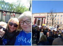 Pabianiccy nauczyciele manifestują w stolicy