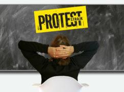 Egzamin ósmoklasisty bez zakłóceń. Trwa 6. dzień strajku nauczycieli