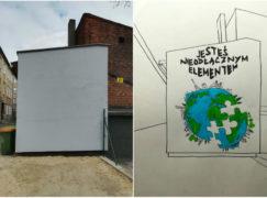 Tu powstanie mural z przesłaniem