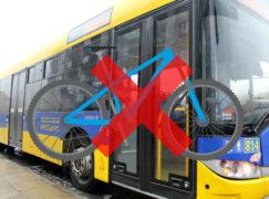 MZK za utrzymaniem zakazu przewożenia rowerów autobusami