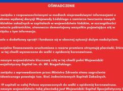 Wojewoda nazwał skandalem apel ratusza o wsparcie dla szpitala