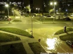 Strażnik uratował teren przed większym zalaniem [VIDEO]