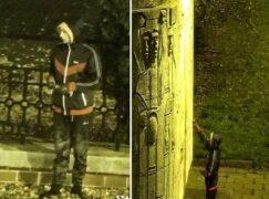 Policja szuka wandala, który pomalował pomnik na Starym Rynku