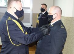 Pożegnanie komendanta Bohdanowicza, powitanie nowego szefa strażaków